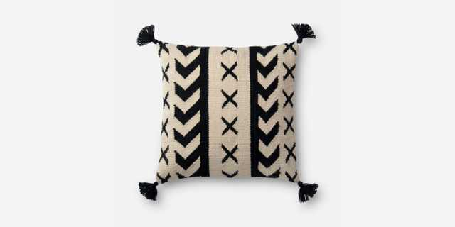 """P0502 IN/OUT BLACK / IVORY - 18"""" x 18"""" - poly insert - Loma Threads"""