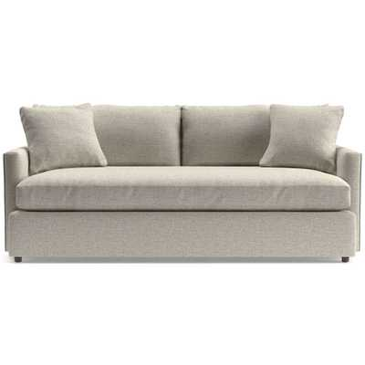 "Lounge Petite 83"" Bench Sofa - Taft, Cement - Crate and Barrel"
