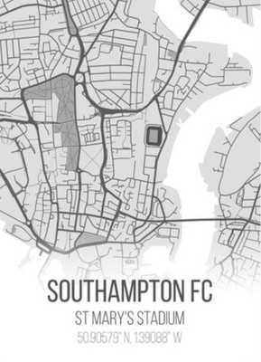 Southampton FC | St Mary's Stadium Football Poster Gift & Present - Etsy