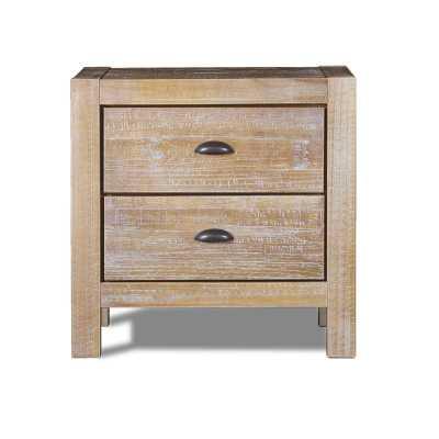 Montauk 2 Drawer Nightstand - Driftwood - Birch Lane