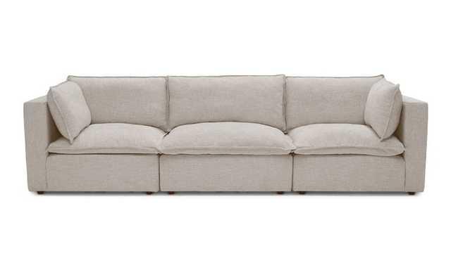 Beige Logan Mid Century Modern Modular Sofa - Cody Sandstone - Joybird