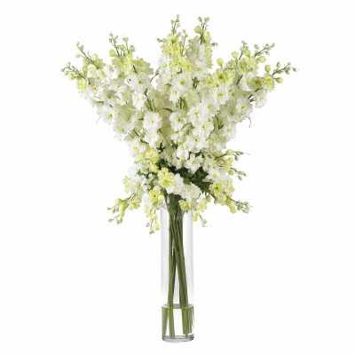 Delphinium Floral Arrangements and Centerpieces in Vase - Wayfair