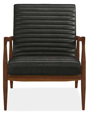 Callan Leather Chair - Lecco black - Walnut - Room & Board