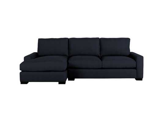 Remington outdoor two piece sectional in chalet indigo - Arhaus