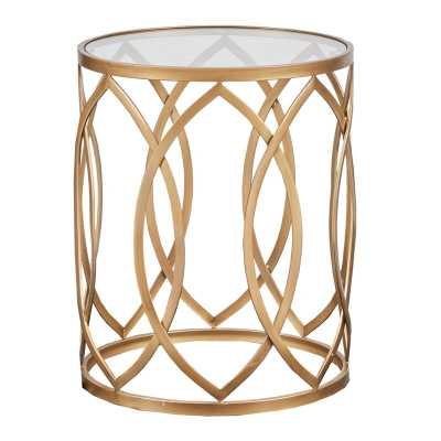 Crewkerne Metal Eyelet End Table - Wayfair
