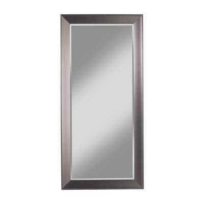Contemporary Silver Full Length Leaner Floor Mirror - Home Depot