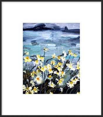 "Beach Blooms - 10"" x 12""  - matte black metal frame - Artfully Walls"