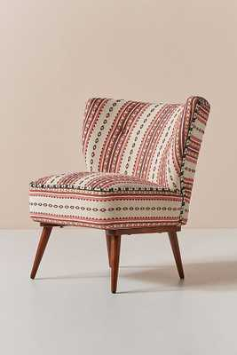 Cheyenne-Striped Woven Petite Accent Chair - Anthropologie