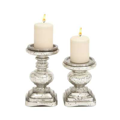 2 Piece Glass Candlestick Set - Wayfair