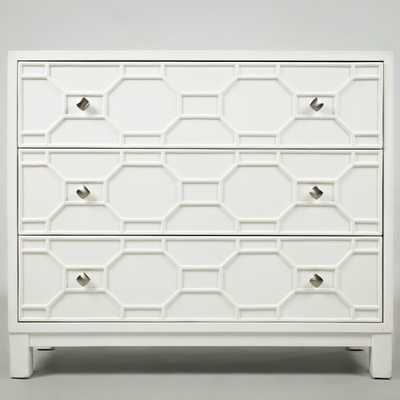 Rosen 3 Drawer Accent Chest - White - Wayfair
