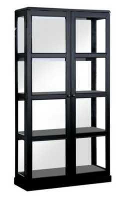 Jones White China Cabinet with Window-Panel Doors - Home Depot