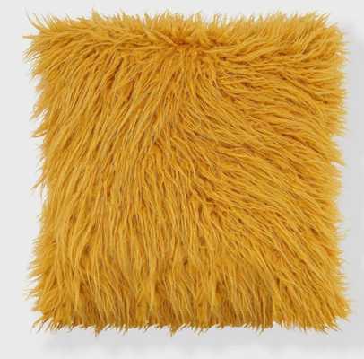 """20""""x20"""" Mongolian Faux Fur Throw Pillow - freshmint - Target"""