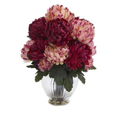 Mum Artificial Arrangement in Vase - Fiddle + Bloom