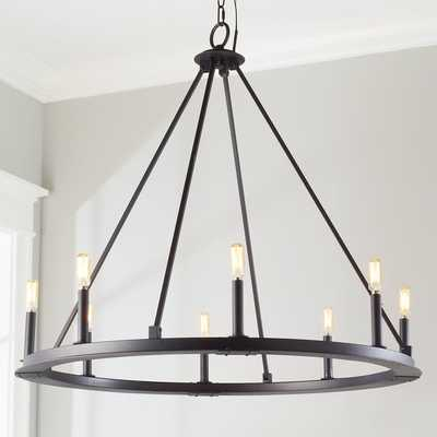 MINIMALIST IRON RING CHANDELIER - 8 LIGHT - Shades of Light
