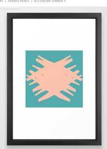 Accordian Summer X Framed Art - Society6