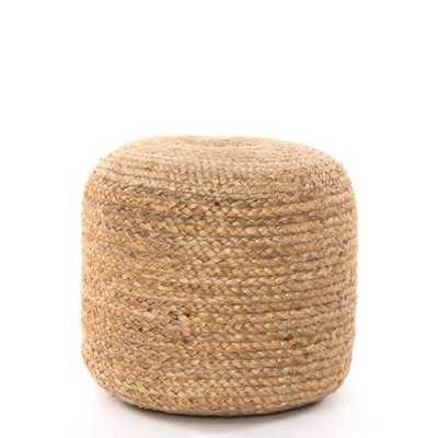 Jute Braided Pouf in Natural - Burke Decor