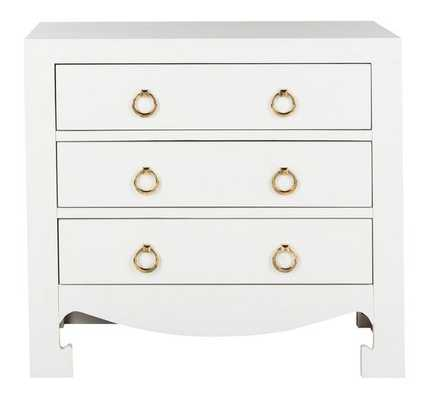 Dion 3 Drawer Chest - White/Gold - Arlo Home - Arlo Home
