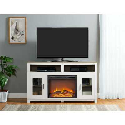 "Zahara TV Stand for TVs up to 60"" with Electric Fireplace Included - Wayfair"