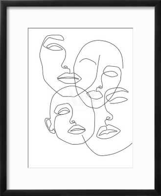 "Messy Faces by Explicit Design 18"" x 20"" Chelsea black frame - art.com"