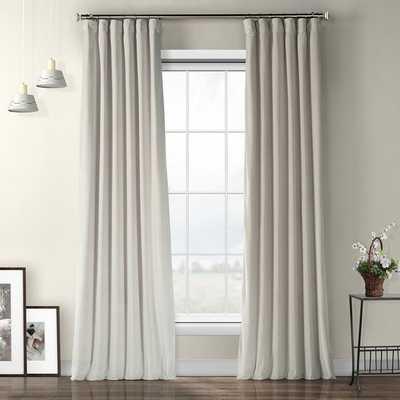 Livia Riverton Solid Heritage Plush Velvet Rod Pocket Single Curtain Panel - AllModern