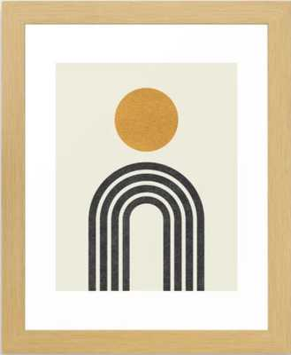 "Mid century modern gold Framed Art Print, 10"" X 12"", Conservation Natural - Society6"