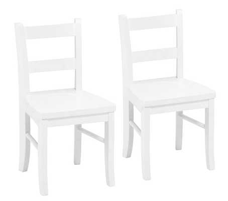 My First Chairs, Set of 2, Simply White - Pottery Barn Kids