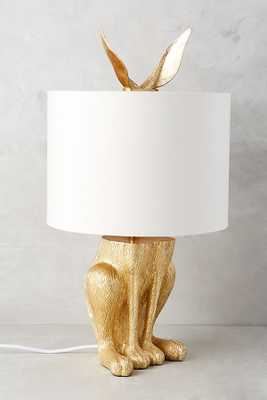 Gilded Hare Table Lamp - Anthropologie