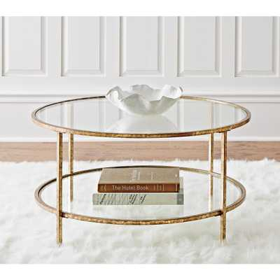 Bella Aged Gold Coffee Table - Home Depot
