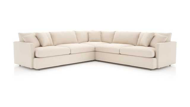 Lounge II 3-Piece Sectional Sofa - Crate and Barrel