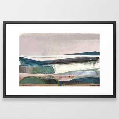 "Coast Framed Art Print- Vector Black, 26""x38"" - Society6"