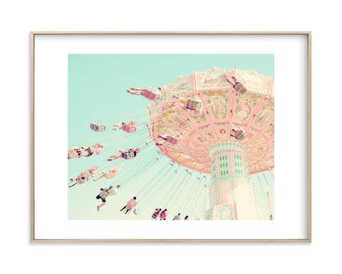 """Sky Coasters Framed Artwork - Brass Matte Frame - 18""""x24"""" - Minted"""