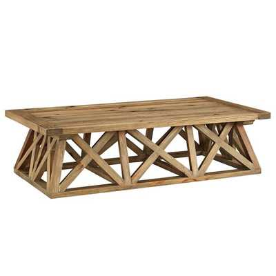 CAMP WOOD COFFEE TABLE IN BROWN - Modway Furniture