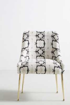 Minara-Printed Elowen Chair - Black and White - Anthropologie
