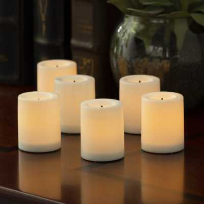 Flameless Unscented Votive Candle (Set of 6) - Wayfair