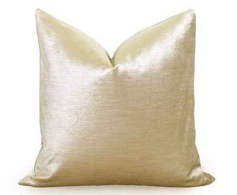 "Glisten Velvet Pillow Cover - Gold - 12"" x 18"" - Insert not included - Willa Skye"