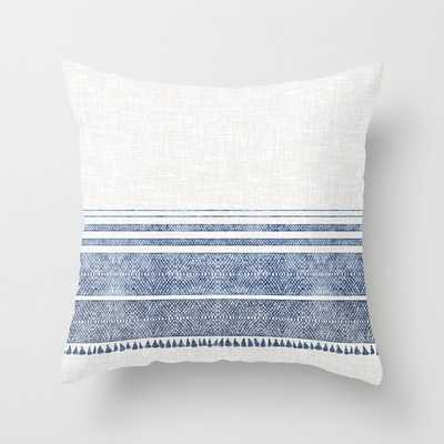 FRENCH LINEN CHAMBRAY TASSEL Throw Pillow - Society6