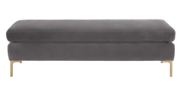 Melvin Upholstered Bench - Gray - Wayfair