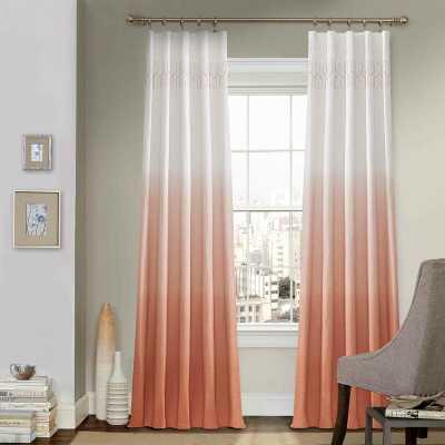 Higbee 100% Cotton Ombre Sheer Rod Pocket Single Curtain Panel - Wayfair