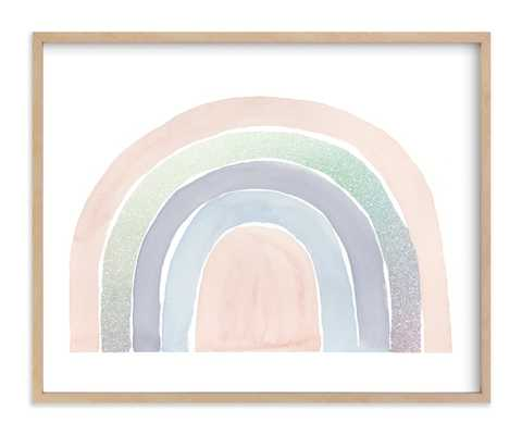 """pastel rainbow - natural wood frame - 16""""x20"""" - Minted"""