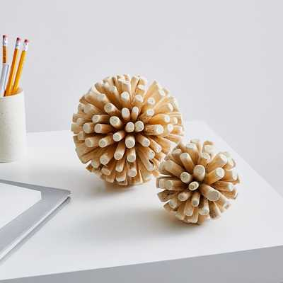 Wood Spike Balls - West Elm