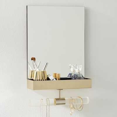 Ava Frosted Acrylic Mirror Jewelry Storage - Pottery Barn Teen