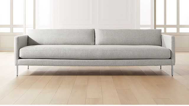 MIDTOWN PLATINUM SLIM SOFA - CB2