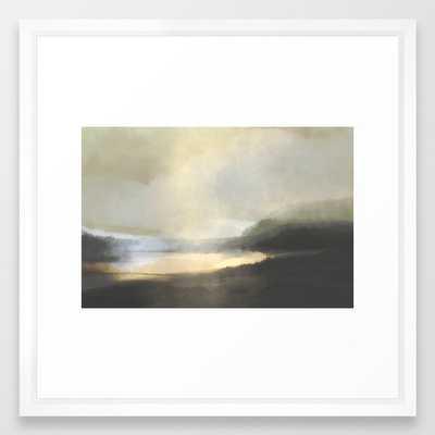 "Dusk Lake Framed Art Print- 22"" SQ - Society6"