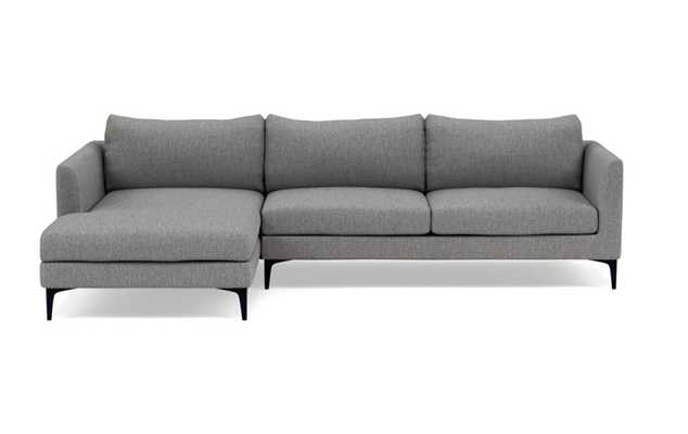 """OWENS Sectional Sofa with Left Chaise. 110"""" Width. Matte Black Sloan Legs - Interior Define"""