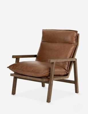 ROWENA LEATHER ACCENT CHAIR - Lulu and Georgia
