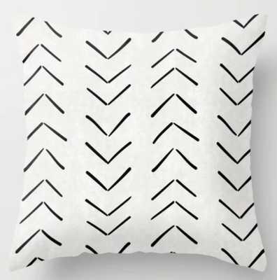 Mud Cloth Big Arrows in Cream Throw Pillow - Society6