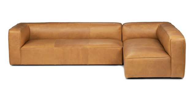 Mello Right Arm Leather Sectional in Taos Tan - Article