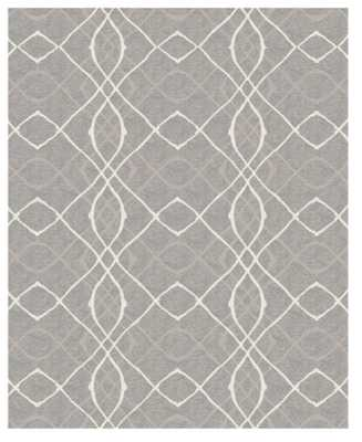Gray Ikat Design Woven Accent Rug 8'X10' - Ruggable - Target