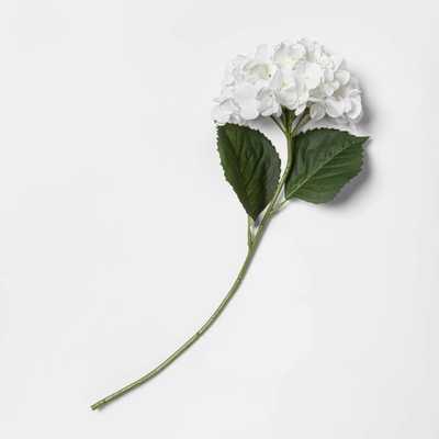 "24"" Artificial Hydrangea Stem White - Threshold™ - Target"