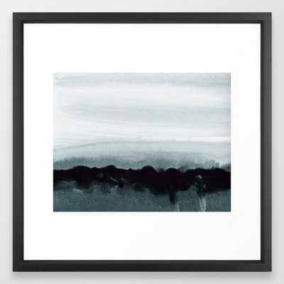 "blurred landscape Framed Art Print - Medium by Patternization 22 x 22"" - Vector Black - Society6"